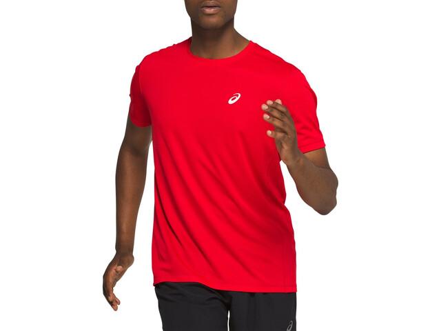 asics Katakana Maillot manches courtes zippé Homme, classic red